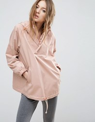 Asos Jacket With Hood And Ring Pull Detail Pink