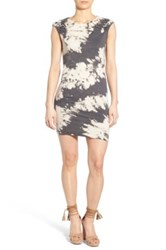 Pam And Gela Knot Shoulder Body Con Dress Gray