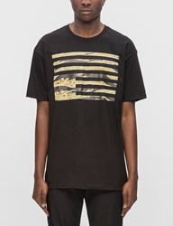 Black Scale Tiger Camo Rebel Flag S S T Shirt