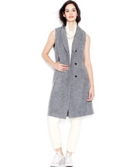 Rachel Rachel Roy Tailored Long Vest Black White