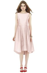 Women's Alfred Sung Bow Back Dupioni Fit And Flare Midi Dress Pearl Pink