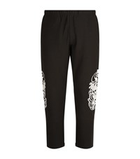 Alexander Mcqueen Embroidered Skull Joggers Male Black