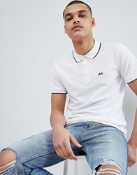 Lindbergh Basic Tipped Polo Shirt In White