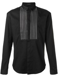 Unconditional Front Zip Panel Shirt Black