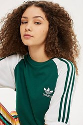 Topshop Colour Block California T Shirt By Adidas Originals Green