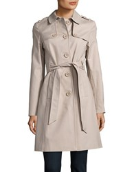 Kate Spade Button Front Trench Coat Gains Grey