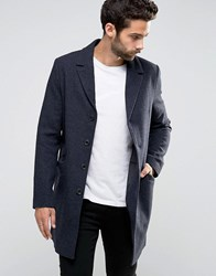 Only And Sons Smart Overcoat Charcoal Grey