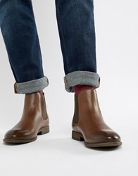 New Look Faux Leather Chelsea Boots In Brown Dark Brown Black
