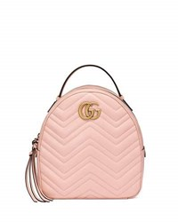 Gucci Gg Marmont Quilted Leather Backpack Light Pink