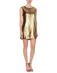 Nineminutes Short Dresses Gold