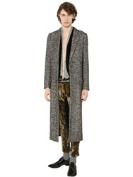 Haider Ackermann Brushed Alpaca And Wool Blend Long Coat