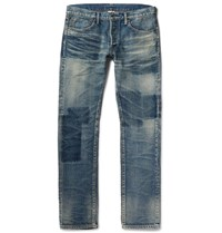 Fabric Brand And Co Bowie Slim Fit Washed Denim Jeans Indigo