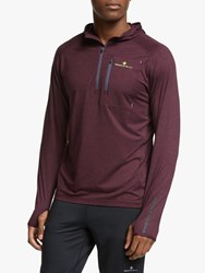 Ronhill Momentum Workout Training Hoodie Fig Marl Charcoal