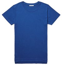 John Elliott Mercer Supima Cotton And Micro Modal Blend Jersey T Shirt Blue
