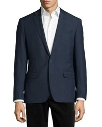 Neiman Marcus Wool Two Button Sport Coat Blue