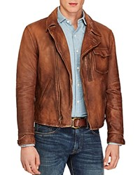 Polo Ralph Lauren Lambskin Leather Jacket Dublin Brown