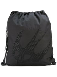 Mcq By Alexander Mcqueen Swallow Embellished Backpack Black