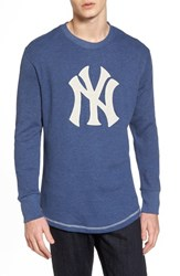 American Needle 'S New York Yankees Embroidered Long Sleeve Thermal Shirt Navy