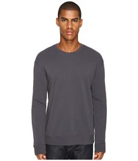 Vince Side Zip Long Sleeve Crew Neck Sweater Pewter Men's Sweater