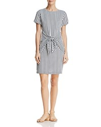 Dylan Gray Striped Tie Front Dress Black Multi
