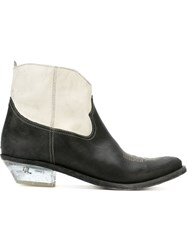 Golden Goose Deluxe Brand Texan Ankle Boots White
