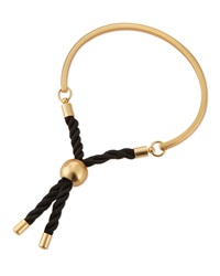 Jules Smith Designs Thin Matte Golden Bar And Rope Cuff Jules Smith