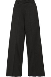 Golden Goose Deluxe Brand Sophie Satin Trimmed Cady Wide Leg Pants Black