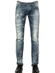 Dolce And Gabbana 18Cm Gold Fit Destroyed Denim Jeans