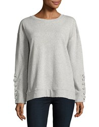 Joe's Jeans Lace Up Detail Sweatshirt Heather Grey