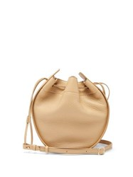 The Row Drawstring Pouch Leather Cross Body Bag Cream