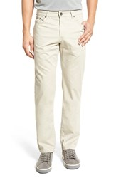 Men's Brax Flat Front Stretch Cotton Trousers Paper