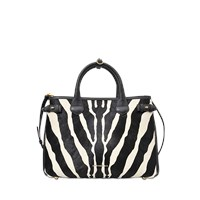Burberry Md Banner Zebra Printed Bag