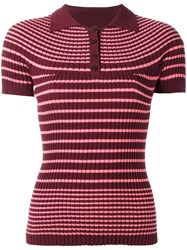 Jean Paul Gaultier Vintage 'Matalot' Polo Shirt Red