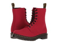 Dr. Martens Page Wc Dark Red Waffle Cotton Women's Boots
