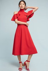 Anthropologie Kristina Dress Red