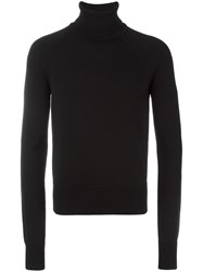 Dsquared2 Ski Ribbed Turtleneck Jumper Black
