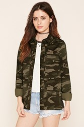 Forever 21 Camouflage Military Jacket