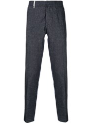 Al Duca D'aosta 1902 Textured Trousers Linen Flax Polyamide Viscose Other Fibers Blue