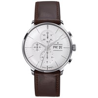 Junghans 027 4120.01 Men's Leather Strap Watch Brown