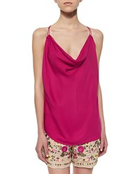 Haute Hippie Sleeveless Cowl Neck Tank Top French Kiss