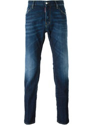 Dsquared2 Straight Leg Jeans Blue