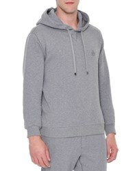 Dolce And Gabbana Crown Logo Hooded Pullover Sweater Gray