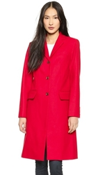 Marc By Marc Jacobs Hiro Felt Coat Cambridge Red