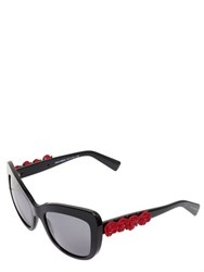 Dolce And Gabbana Roses Embellished Acetate Sunglasses