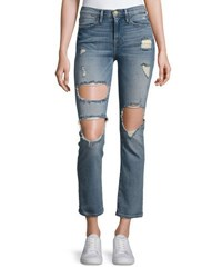 Frame Le High Straight Distressed Jeans Le Debs Light Blue