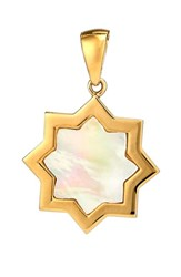 Asha Women's Kismet Small Mother Of Pearl Charm Gold Mother Of Pearl