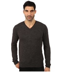 Lucky Brand White Label V Neck Sweater Charcoal Men's Sweater Gray