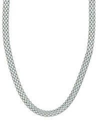 Lord And Taylor Cutout Sterling Silver Necklace
