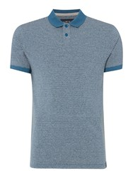 Criminal Spencer Stripe Polo Top Teal