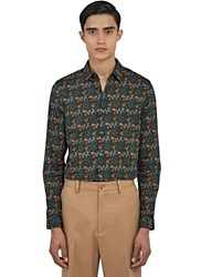 Gucci Duke Floral Print Shirt In Green